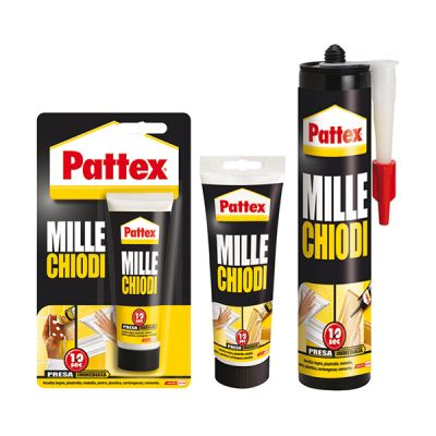 Millechiodi strong and rapid Glue adhesive immediate grip Pattex assembly 100 gr