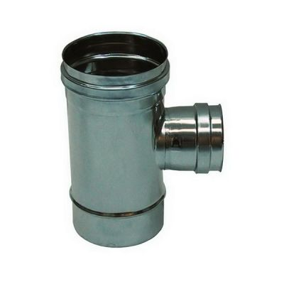 Fitting T 90 ° reduced DN 80 female flue DN 130 stainless steel tube 316 INOX