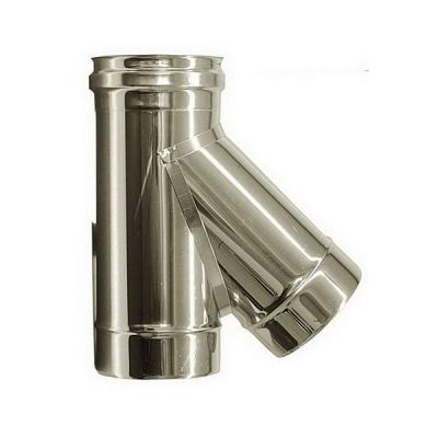 T connection 135 ° flue DN 140 stainless steel tube 316 INOX