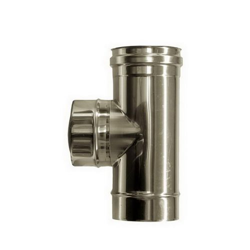 T connection 90 ° flue DN 160 stainless steel tube 316 INOX